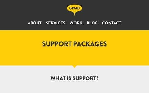 Screenshot of Support Page gpmd.co.uk - Magento Support | GPMD - captured Dec. 6, 2015