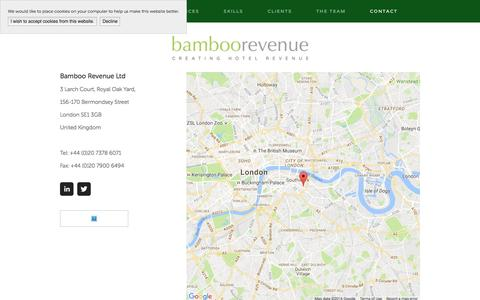 Screenshot of Contact Page bamboorevenue.co.uk - Contact — Bamboo Revenue - captured July 28, 2016