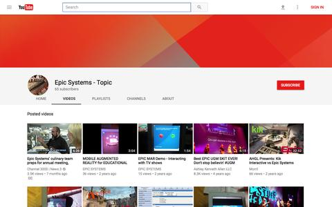 Epic Systems - Topic - YouTube