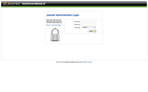 Screenshot of Login Page mcminnovation.nl - mcminnovations.nl - Administration - captured Oct. 4, 2014