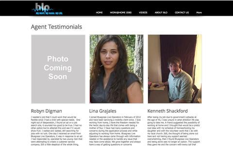 Screenshot of Testimonials Page bluegrassops.com - Testimonials - captured Nov. 22, 2016