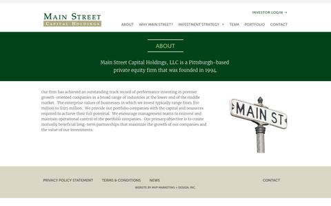 Screenshot of About Page mainstcap.com - About | Main Street Capital - captured Sept. 29, 2017
