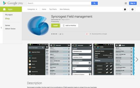 Screenshot of Android App Page google.com - Syncrogest Field management - Android Apps on Google Play - captured Oct. 22, 2014