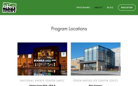 Screenshot of Locations Page akasport.org - Program Locations — AKASPORT - captured Nov. 20, 2016