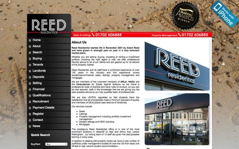 Screenshot of About Page reedresidential.co.uk - Letting Agents in Southend & Westcliff on Sea, Essex - Reed Residential - captured Oct. 1, 2014