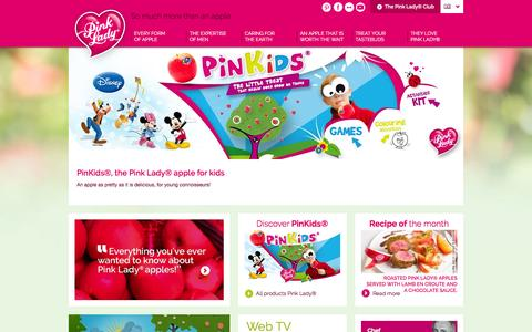 Screenshot of Home Page apple-pinklady.com - Pink Lady®, so much more than an apple - Pink Lady® Apple - captured March 25, 2016