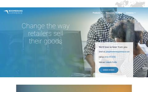 Screenshot of Jobs Page boomerangcommerce.com - Boomerang Commerce - captured Oct. 1, 2015