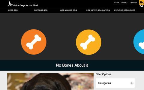 Screenshot of Blog guidedogs.com - Blog - captured Nov. 16, 2016