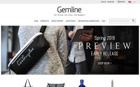 Screenshot of Home Page gemline.com - Gemline | Promotional Products Supplier - captured Dec. 14, 2018