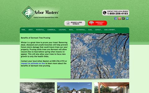 Screenshot of Home Page arbormasters.com - Home - Tree Service, Lawn Care and Landscape Company - captured Dec. 12, 2018