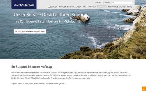 Screenshot of Support Page henrichsen.de - Support | Henrichsen AG - captured Jan. 22, 2016