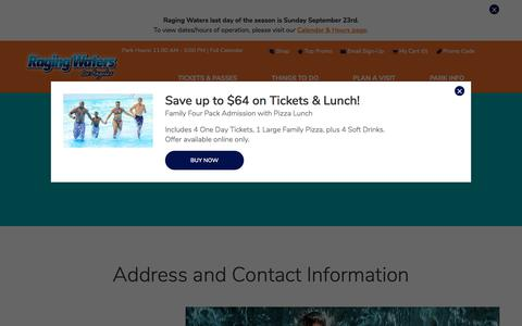 Screenshot of Contact Page ragingwaters.com - Contact Us | Raging Waters Los Angeles - captured Sept. 23, 2018