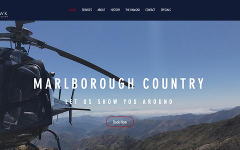Screenshot of Home Page windhawkhelicopters.com - WINDHAWK HELICOPTERS   NZ - captured Oct. 20, 2018