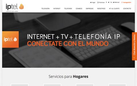 Screenshot of Home Page ip-tel.com.ar - Internet | Telefonía IP | VoIP | Iptel: Conectate con el mundo - captured Sept. 16, 2015