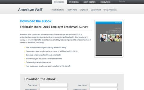 Screenshot of Landing Page americanwell.com - American Well: Form Template - captured Aug. 20, 2016