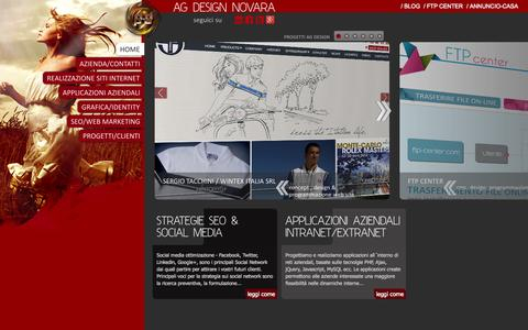 Screenshot of Home Page ag-design.it - ag design novara | Realizzazione e creazione siti internet| Agenzie web - captured Oct. 4, 2014