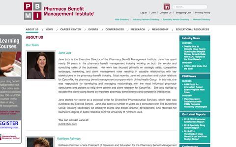Screenshot of Team Page pbmi.com - Our Team - PBMI - captured Oct. 2, 2014