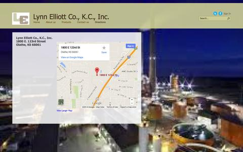 Screenshot of Maps & Directions Page lecokc.com - Directions - captured Oct. 3, 2014