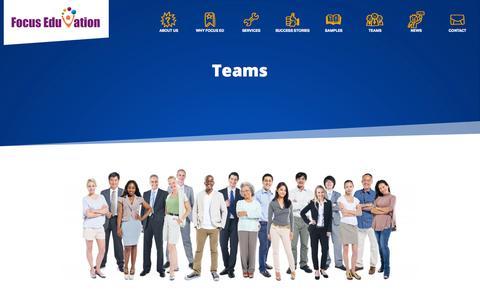Screenshot of Team Page focuseduvation.com - e-Learning Teams - Focus EduVation - captured Oct. 29, 2014
