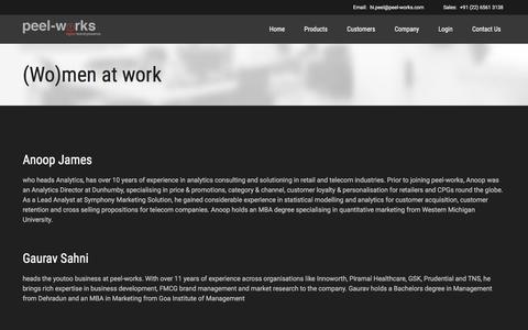 Screenshot of Team Page peel-works.com - management | Peel Works - captured Dec. 14, 2015