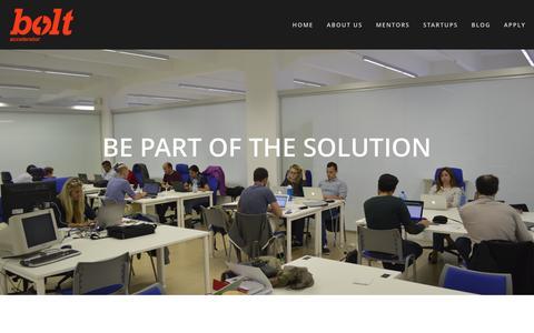 Screenshot of Jobs Page bolt.eu.com - Jobs — Bolt Accelerator - captured Feb. 8, 2016