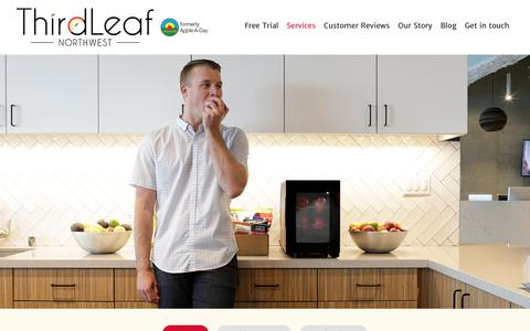 Screenshot of Services Page thirdleafnw.com - Food Delivery Seattle WA | Meal Delivery Seattle | Food Delivered Seattle - captured Oct. 12, 2019