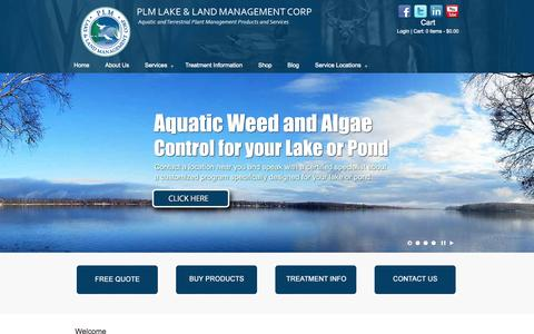 Screenshot of Home Page plmcorp.net - PLM Lake & Land Management Corp - captured Oct. 1, 2014