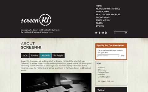 Screenshot of About Page screenhi.co.uk - About ScreenHI - captured Oct. 27, 2014