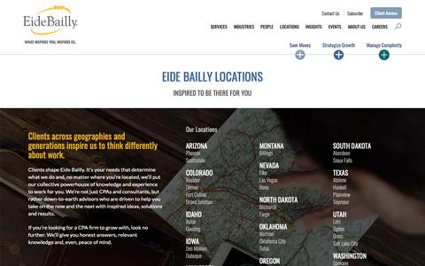 Screenshot of Locations Page eidebailly.com - Eide Bailly Locations - captured Oct. 5, 2018
