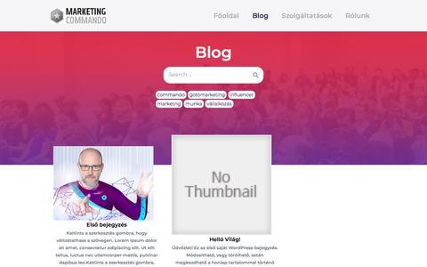 Screenshot of Blog marketingcommando.hu - Blog – … egy újabb WordPress honlap… - captured July 10, 2019