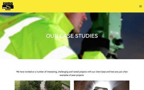 Screenshot of Case Studies Page sumoservices.com - Case Studies — SUMO Services - captured Oct. 25, 2017