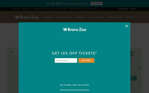 Screenshot of Maps & Directions Page bronxzoo.com - Map - Bronx Zoo - captured Dec. 5, 2016