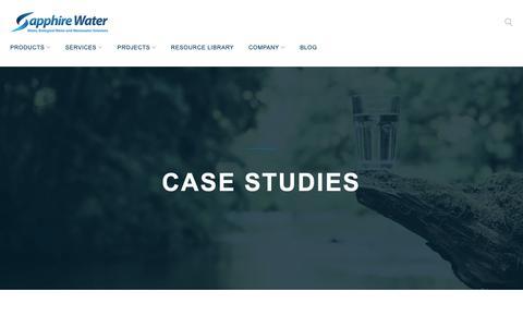 Screenshot of Case Studies Page sapphire-water.ca - Case Studies Archives - Sapphire Water - captured Oct. 2, 2018