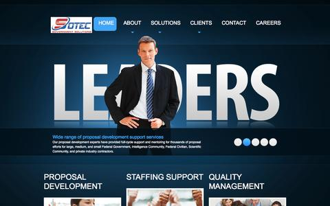 Screenshot of Home Page sotec-gov.com - Sotec Government Solutions | government solutions - captured Oct. 6, 2014