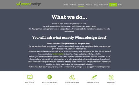 Screenshot of Services Page wizzardesign.com - What exactly Wizzardesign does?   Wizzardesign.com - captured Feb. 28, 2016