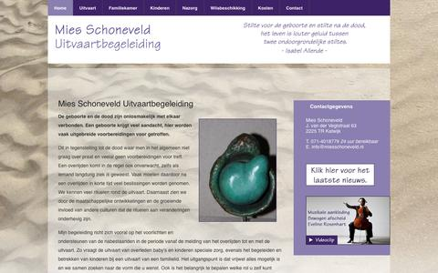 Screenshot of Home Page miesschoneveld.nl - » Mies Schoneveld Uitvaartbegeleiding - captured Oct. 6, 2014