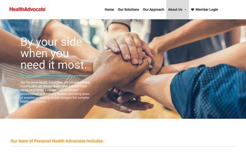 Screenshot of Team Page healthadvocate.com - Our Team – Health Advocate - captured Feb. 7, 2020
