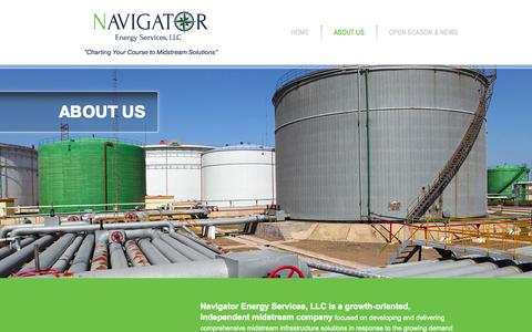 Screenshot of About Page navigatorenergyservices.com - About Us | Navigator Energy Services - captured Oct. 9, 2014