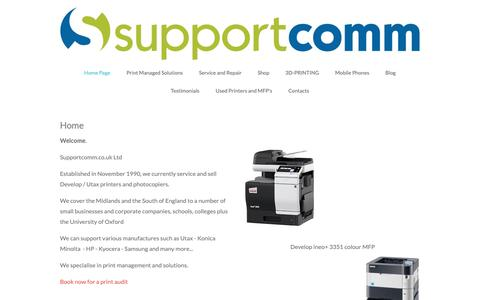 Screenshot of Home Page supportcomm.co.uk - Home Page - captured Oct. 19, 2018
