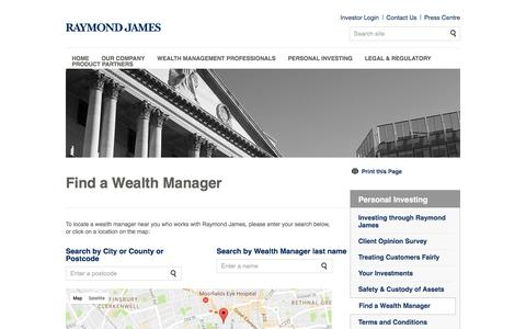 Find a Wealth Manager | Raymond James Investments Services