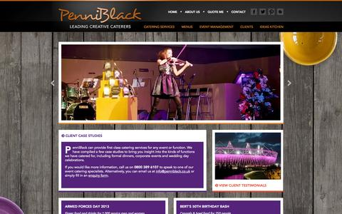 Screenshot of Case Studies Page penniblack.co.uk - PenniBlack - Leading Creative Caterers - Client Case Studies - captured Oct. 2, 2014