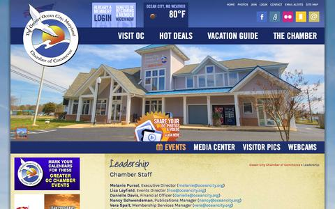 Screenshot of Team Page oceancity.org - Leadership | Ocean City MD Chamber of Commerce - captured Oct. 18, 2017