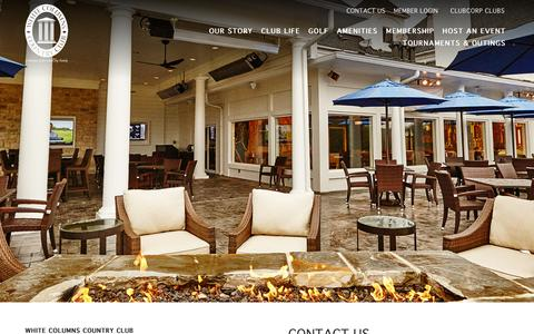 Screenshot of Contact Page clubcorp.com - Contact Us | White Columns Country Club - captured Oct. 20, 2018