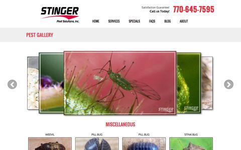 Screenshot of Site Map Page stingerpest.com - Pest Gallery   Stinger Pest Solutions - captured Oct. 23, 2014