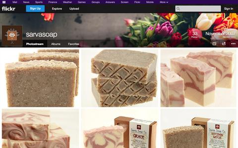 Screenshot of Flickr Page flickr.com - Flickr: sarvasoap's Photostream - captured Oct. 25, 2014
