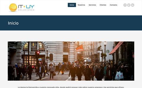 Screenshot of Home Page it-uy.com - IT-UY Soluciones - captured Nov. 19, 2016