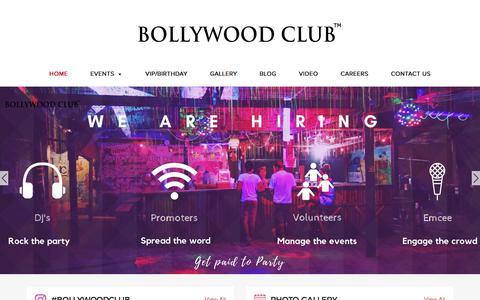 Screenshot of Home Page bollywoodclub.com.au - Top Bollywood Night Club Parties, Events In Sydney & Melbourne, Australia: Indian Bollywood DJ Sydney & Melbourne, Hot Party & Event planning- Bollywoodclub.com.au - captured Aug. 3, 2018