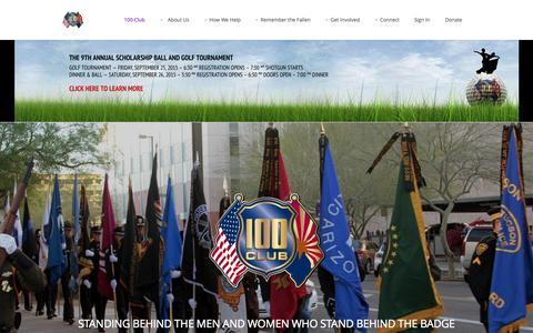 Screenshot of Home Page 100club.org - 100 Club 100-Club - 100 Club - captured Sept. 18, 2015