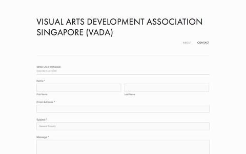Screenshot of Contact Page vada.org.sg - Contact — Visual Arts Development Association Singapore (VADA) - captured Oct. 26, 2014