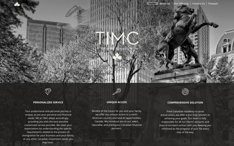 Screenshot of Home Page timc.ca - TIMC Home - captured Oct. 7, 2014